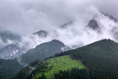 Tatra mountains in Zakopane at cloudy day Royalty Free Stock Photo