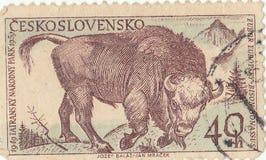 Tatra national park. Czechoslovak postage stamp `Tatra national park Royalty Free Stock Photos
