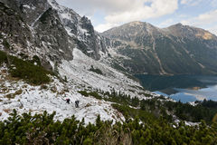 Tatra nationalpark Marine Eye Arkivbilder