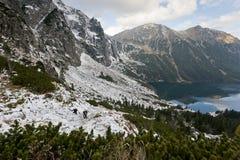 Tatra nationalpark Marine Eye Arkivbilder
