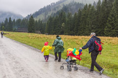 Koscieliska valley - Poland. Royalty Free Stock Images