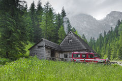 TATRA, POLAND - JUNE  22: Mountain shelter house in Tatra Mounta Royalty Free Stock Photo