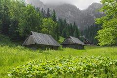 TATRA, POLAND - JUNE  22: Mountain shelter house in Tatra Mounta Royalty Free Stock Photos