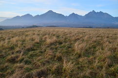 Tatra. Poprad Plain with the High Tatras in the background Stock Images