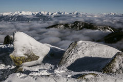 Tatra. Slovakian snow cover mountains, January Stock Image