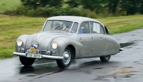 Tatra 67 - Tatraplan  - speed test Stock Photo