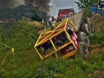 Tatra truck in an offroad race Stock Image