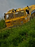 Tatra truck in an offroad race Stock Images