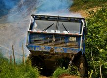 Tatra truck in an offroad race Stock Photo