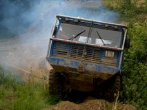 Tatra truck in an offroad race Royalty Free Stock Images