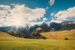 Tatrabergen in de lentetijd, Slowakije Royalty-vrije Stock Foto