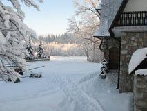 Tatrabergen in Polen en Slowakije Stock Fotografie
