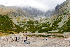 Tatranska Lomnica, Slovakia, a skiing and hiking resort stock image
