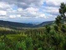 从Tatras山脉的山景 免版税库存图片
