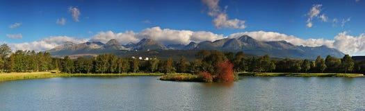 The Tatras. Panorama - The Tatras from Stredny mlyn Royalty Free Stock Photography