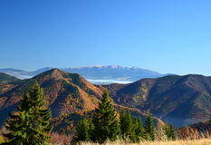 Tatras ad ovest Immagini Stock