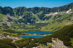 Tatras berg, dal av fem damm Royaltyfria Bilder