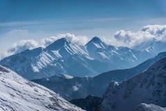 Tatras di Belianske nell'inverno Immagini Stock