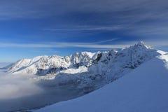 Tatras di inverno Fotografia Stock
