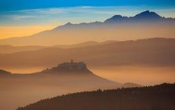 Tatras dimma Arkivfoto