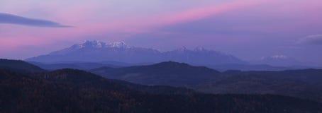 Tatras elevados Foto de Stock Royalty Free