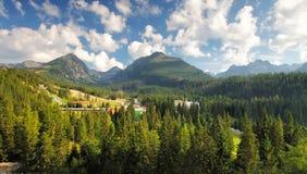 Tatras green forest - Strbske pleso, Slovakia Royalty Free Stock Photos