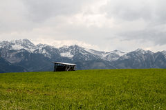 Tatras and hut Stock Photo