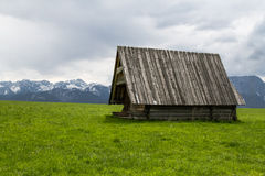 Tatras and hut Royalty Free Stock Image