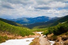 Tatras inférieur au printemps photo stock