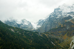 Tatras Mountains covered with snow - Poland Royalty Free Stock Photos