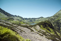 Tatras mountains, Valley of five ponds. Royalty Free Stock Photo