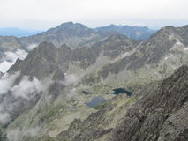 Tatras in Slovakia. View from Lomnicky peak of the Tatra Mountains in Slovakia Stock Image