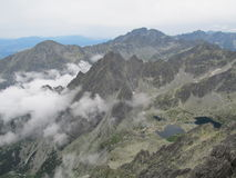 Tatras in Slovakia. View from Lomnicky peak of the Tatra Mountains in Slovakia Royalty Free Stock Images