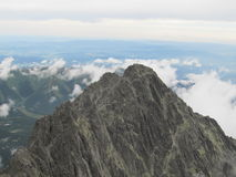 Tatras in Slovakia. View from Lomnicky peak of the Tatra Mountains in Slovakia Stock Images