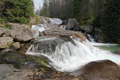 Tatras waterfall - Studenovdosky Royalty Free Stock Photo