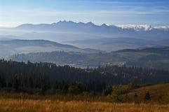 Tatras y lago 3 Czorsztyn Fotos de archivo libres de regalías
