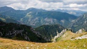 Tatry山景和迁徙的Czerwone Wierchy 免版税库存图片