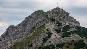 Tatry山景和迁徙的Czerwone Wierchy 库存图片