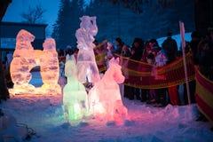TATRY EIS-ORIGINAL 2013 bei Hrebienok, Slowakei Stockfoto