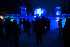 TATRY EIS-ORIGINAL 2013 bei Hrebienok, Slowakei Stockbild