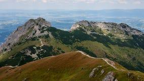 Tatry gór widoki Wierchy i Trekking Czerwone Obrazy Stock