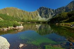 Tatry - Gebirgssee Stockbild