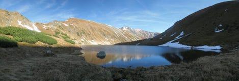 Tatry - Jamnicke plesou mountain lake Royalty Free Stock Photography
