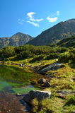 Tatry - mountain lake Royalty Free Stock Images