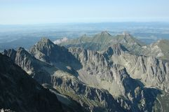 Tatry mountain view from above stock photo