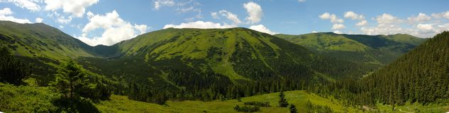 Tatry mountains panorama Royalty Free Stock Photography