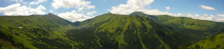 Tatry mountains panorama Royalty Free Stock Photo