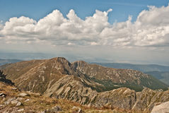 Tatry mountains panorama from Spalena peak in Rohace Stock Photo
