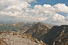 Tatry mountains panorama Royalty Free Stock Photos
