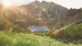 Tatry mountains in Poland. Summer nature landscape stock video footage